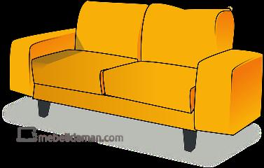 Design Sofa Tamu Retro