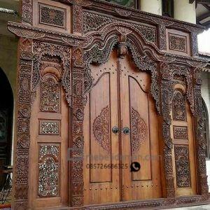 Pintu Rumah Gebyok Brown