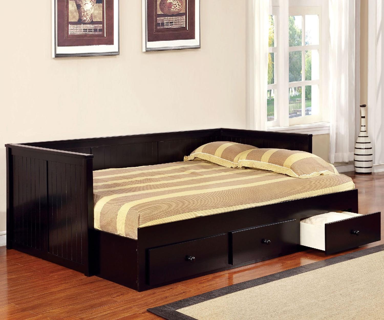 Sofa Bed Minimalis Dark Brown Mebel