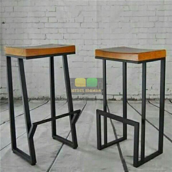 Kursi Bar Cafe Minimalis Kotak