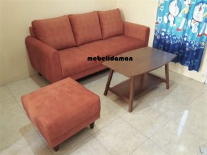 Set Sofa Tamu Retro dan Meja Retro