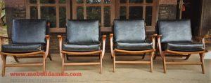 Sofa teras kayu jati model klasik
