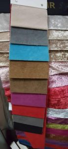 sample kain jenis bludru